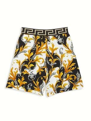 Versace Little Boy's & Boy's Greco Waistband Shorts