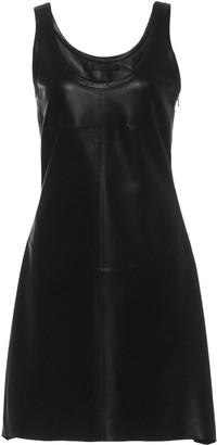 Helmut Lang Leather Tank Mini Dress
