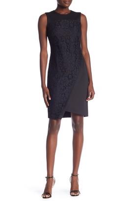Tommy Hilfiger Asymmetric Scuba Lace Dress