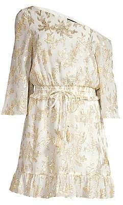 Rachel Zoe Women's Flora Metallic Silk One-Shoulder Dress - Size 0