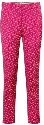 Etro Floral satin jacquard slim pants