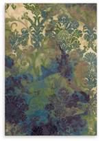 Orian Aria Rugs Mardi Gras Tangled Garden Flower 5-Foot 3-Inch x 7-Foot 6-Inch Area Rug in Bone