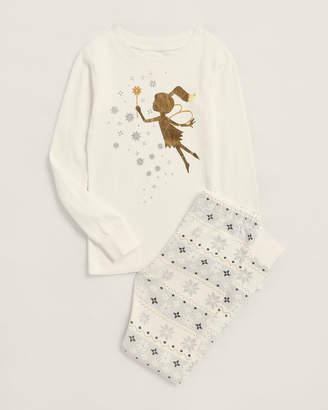Pl Sleep (Girls 4-6x) Two-Piece Fairy Tee & Pajama Pants Set