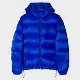 Paul Smith Men's Blue Nylon Hooded Down Jacket