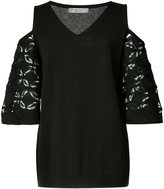 D-Exterior D.Exterior off-shoulder lace detail blouse