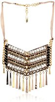 Vince Camuto Leather and Rhinestone Embellished Necklace, 18""