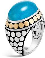 John Hardy Sterling Silver and 18K Bonded Gold Dot Dome Ring with Turquoise - 100% Exclusive