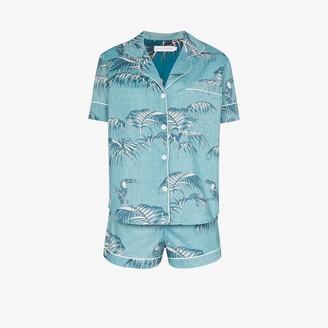 Desmond & Dempsey Bocas printed short sleeve pyjama set