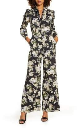 Ali & Jay Stay Magical Floral Print Long Sleeve Jumpsuit