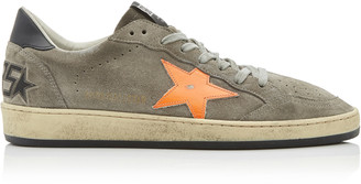 Golden Goose Ball Star Distressed Suede And Rubber Sneakers