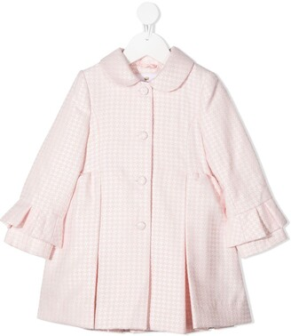 Lapin House Houndstooth Pleated Coat