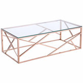 Zuo Modern Cage Rose Gold Coffee Table