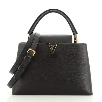 Louis Vuitton Capucines Black Leather Handbags