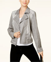 INC International Concepts Studded Denim Moto Jacket, Created for Macy's