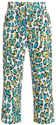 R 13 Slouch Leopard Print Pants