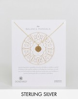 Dogeared Gold Plated Small Balance Mandala Reminder Necklace