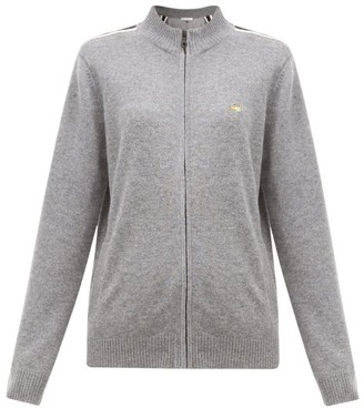 Bella Freud Suzuka Striped Cashmere-blend Jacket - Womens - Grey
