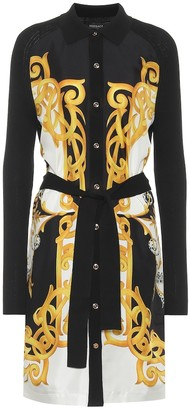 Versace Printed silk and cotton shirt dress