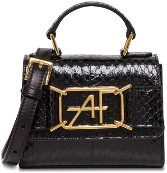 Alberta Ferretti Mini Shoulder Bag With Python Embossed Leather