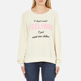 Wildfox Couture Women's New Clothes Kims Sweatshirt Vanilla Latte