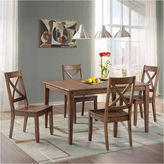 Asstd National Brand Dining Possibilities 5-Piece Rectangular Dining Table with X-Back Chairs