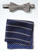 Banana Republic Silk Bow Tie and Pocket Square Set