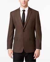 Tommy Hilfiger Men's Slim-Fit Brown Check Sport Coat