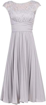 Dorothy Perkins Womens *Jolie Moi Silver Grey Lace Dress, Silver