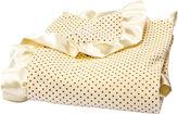 Trend Lab TREND LAB, LLC Banana Cream Polka Dot Velour Blanket