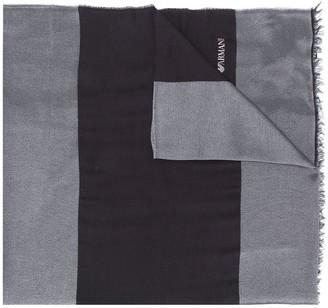 Emporio Armani Panelled Logo Scarf