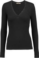 J Brand Whitmer ribbed stretch-jersey top