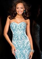 Scala 48594 Dress in Ivory Sky Blue
