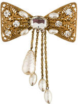 Miriam Haskell Pearl Bow Brooch