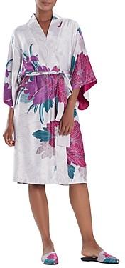 Natori Floral Print Belted Robe