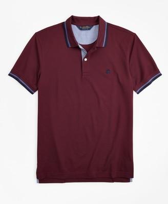 Brooks Brothers Original Fit Stripe Trim Polo Shirt