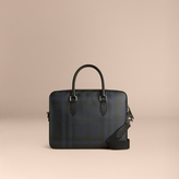 Burberry Medium Leather Trim London Check Briefcase