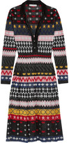 Mary Katrantzou Cecile Metallic Jacquard-knit Dress - Black