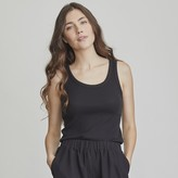 Elizabeth and James Women's Ribbed Tank Top