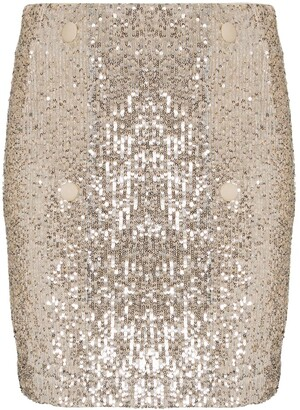 Rotate by Birger Christensen London sequin-embellished mini skirt