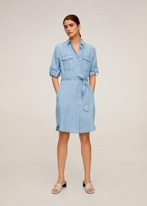 MANGO Short shirt dress medium blue - 2 - Women