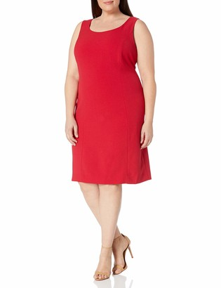 Tahari ASL Women's Plus Size Sheath Dolly Dress