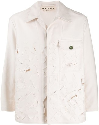 Marni Laser Cut Denim Jacket