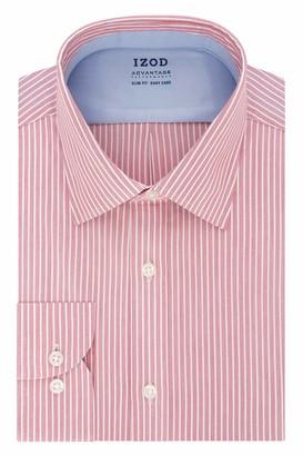 Izod Men's Dress Shirt Slim Fit Stretch FX Cooling Collar Stripe