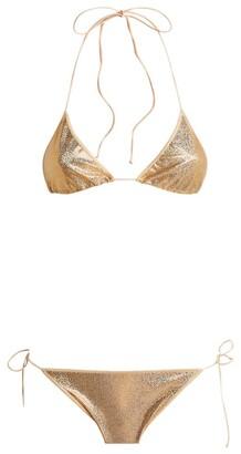 Oseree Metallic Side-Tie Bikini