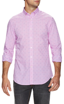 James Tattersall Printed Button-Down Dress Shirt