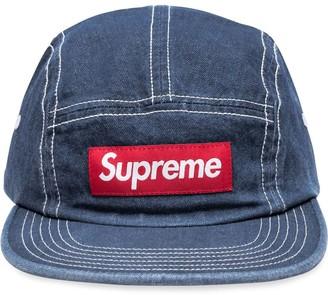 Supreme logo patch denim hat