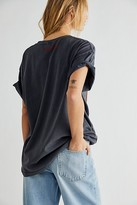 Wrangler Oversized Tiger Tee by at Free People, Washed Black, XS