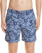 Z Zegna Leaf Print Swim Trunks
