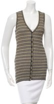 M Missoni Sleeveless Chevron Cardigan w/ Tags