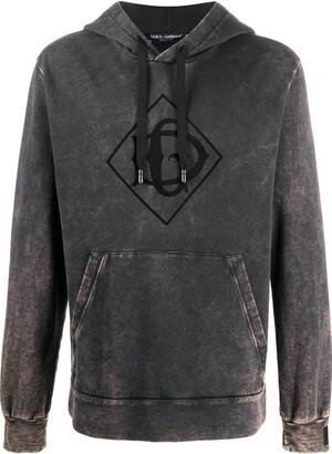 Dolce & Gabbana Acid Wash Logo Hoodie